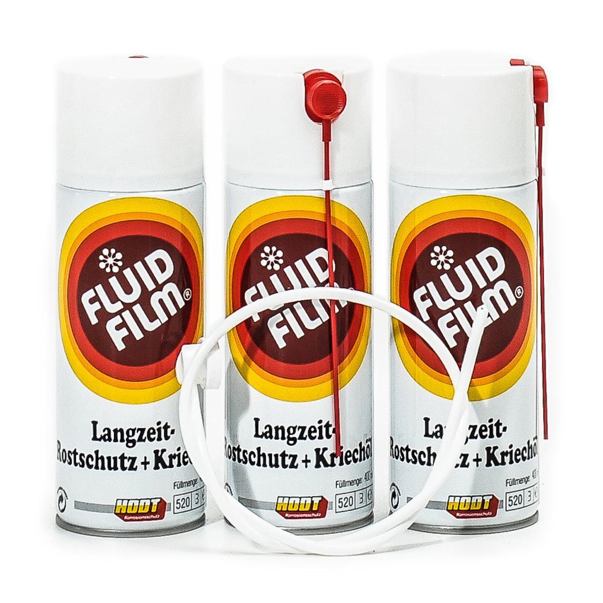 fluid film as r 400 ml spr hdose 3er pack sonde fluid film rostschutzmittel chemie. Black Bedroom Furniture Sets. Home Design Ideas