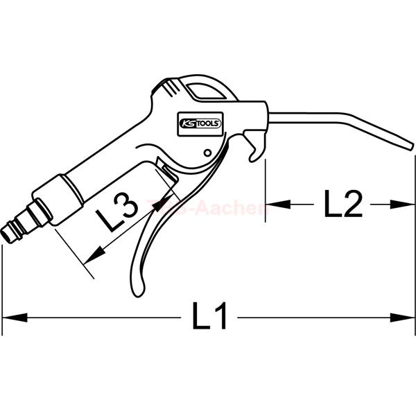 KS Tools 515.1903 Universal-Druckluft-Ausblaspistole 330mm